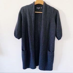 Vince 100% Cashmere Short Bubble Sleeve Sweater